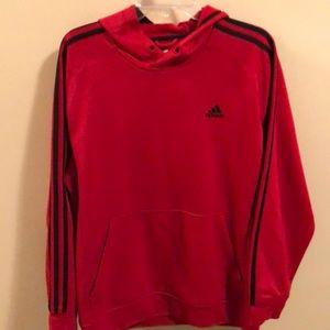 Adidas red tiger stripe hoodie